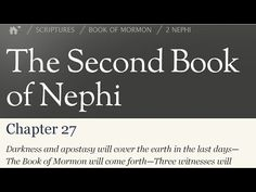 "Read the Book of Mormon 2 Nephi 27 - Isaiah prophesied of a sealed book. What nations fight against Zion in the last days? Does the Lord ""control"" our level of spiritual awareness? Is the Book of Mormon the ""words of them which have slumbered""? Is this the ""sealed"" book referred to by Isaiah? Were there three witnesses to this sealed book? Is this revelation the marvelous work and a wonder referred to by Isaiah?"