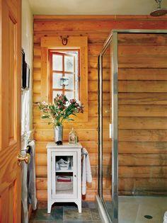 log cabin showers google search