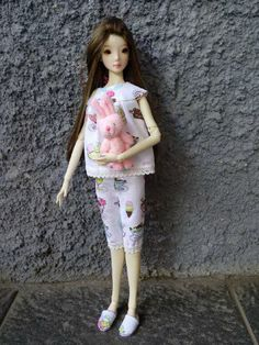 Pajama set for Resin Enchanted Doll by HandmadeByOkti on Etsy