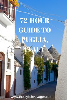 If you visit Puglia, Italy, read my 72-hour guide to this beautiful part of Italy. The blog post covers Bari, Alberobello, Ostuni and Lecce.