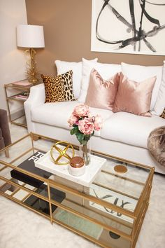 Le Living Room with Laurel & Wolf - The Darling Detail decor ideas living room apartment Pink Living Room, Living Room Decor Apartment, Apartment Living Room, New Living Room, Home Decor, Glamour Living Room, Living Room Interior, Feminine Living Room, Interior Design Living Room