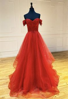 Burgundy Tulle Lace Short Sleeves Prom Dress Sweet 16 Prom Dress - Sites new Short Sleeve Prom Dresses, Long Prom Gowns, Short Sleeves, Long Sleeve, Tulle Prom Dress, Tulle Lace, Dress Lace, Dress Red, White Tulle