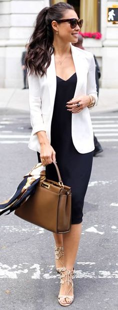 Black And White Chic Up Town Girl Fall Street Style Inspo by With Love From Kat
