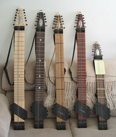 "The ""Chapman Stick""...Coolest instrument EVER!  No strumming or picking needed and you play all the melody with both hands.  Check out some of the videos of it in action on YouTube.  Way cool!!!  I'd love to have one of these!  :)"