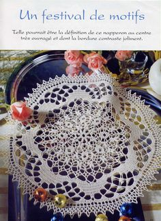 """Photo from album """"Sabrina - Tous Les Ouvrages on Yandex. Crochet Chart, Crochet Doilies, Crochet Earrings, Album, Knitting, Simple, Crafts, Yandex Disk, Beautiful"""