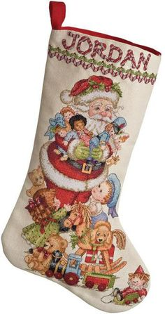 Gifts From Santa Christmas Stocking - Cross Stitch Kit