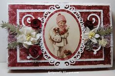 Julepyntede Toffifee-esker Christmas Time, Christmas Cards, Chocolate Card, How To Make Paper Flowers, Projects To Try, Nye, Paper Crafts, Frame, Scrapbooking