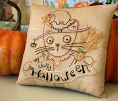 Hudson's Holidays - Shirley Hudson: We love French knots- Free Halloween stitchery