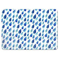 Uneekee Watercolor Rain Drops Placemats