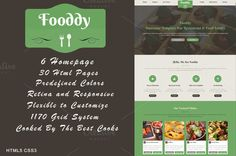 Check out Fooddy - Food and Restaurant Theme by Brandacy on Creative Market