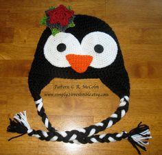 Image of Pepper the Penguin Hat, CROCHET PATTERN, PDF
