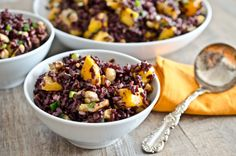 Black Rice Salad with Mangoes and Cashews