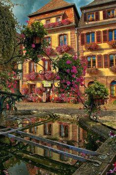 Village Fountain, Bergheim, France  photo via rachelle