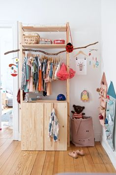 DIY Ikea Hacks DIY wardrobe Ikea Ivar quickly and cheaply Your Tip for Calming Fussy Babies Could Be Bedroom Storage Ideas For Clothes, Bedroom Storage For Small Rooms, Closet Ideas, Nursery Storage, Diy Clothes, Stylish Clothes, Kids Clothes Storage, Closet Hacks, Cheap Clothes