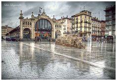 Mercado central de Zaragoza . España.