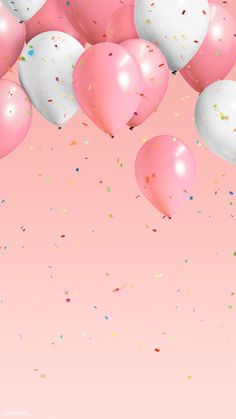 Best stock Images and creative resources Festive pastel pink balloon frame mobile phone wallpaper