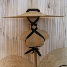Lavandiere Chapeaux, the traditional French straw hat worn while harvesting lavender.