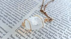 Quartz Necklace  Clear Crystal Necklace  Raw by LunacyEavee