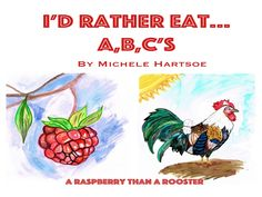 ABC'S: Funny Educational book for kids.Vegans and those that love fruit and veg 52 illustrations, 26 fruits and veggies and 26 animals.