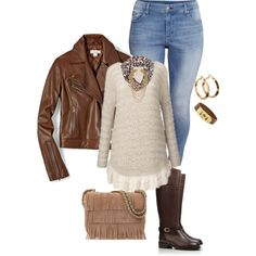 plus size fall/winter casual looks, created by kristie-payne on Polyvore