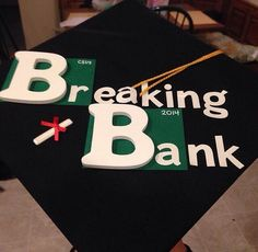 Play on breaking bad grad Cap design // follow us @motivation2study for daily inspiration