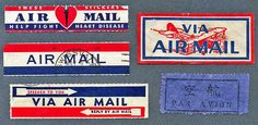 Air Mail Labels by wackystuff, via Flickr