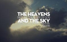 heavens, God's glory