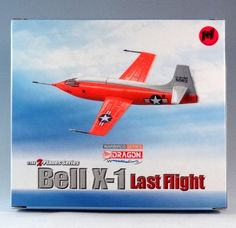 Dragon Wings 51025 Bell X-1 Last Flight. Set includes two Bell X-1 aircraft in full colour and with interior. 1:144 scale diecast with plastic parts. Includes stand with name plate. The Bell X-1 was conceived during 1944 and designed and built during 1945, it achieved a speed of nearly 1,000 miles per hour (1,600 km/h; 870 knots) during 1948. The last flight of an X-1 derivative was in 1958. http://thegeniescave.co.uk/product-category/diecast/dragon-wings/