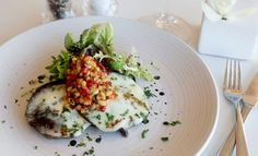 Delicious mushrooms with with mozzarella and pine nut relish, part of the winter dining menu  Image Credit: Harvey Nichols