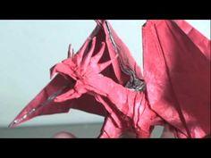 Making of Origami Dragon (Kamiya Satoshi ancient dragon). This is one I wish I could make!