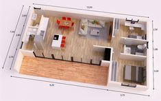 FUERTEVENTURA DONACASA 97 m2 , Hormigón celular con trasdosado tejado plano Modern Small House Design, Modern Villa Design, Bungalows, Ideas Para, House Plans, Sweet Home, Floor Plans, Flooring, How To Plan