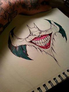 batman x joker Joker Drawings, Pencil Art Drawings, Art Drawings Sketches, Tattoo Drawings, Cool Drawings, Body Art Tattoos, Batman Drawing, Joker Sketch, Game Tattoos