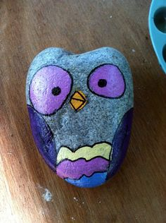 Healthy living at home devero login account access account Painted Rocks Owls, Owl Rocks, Painted Stones, Painted Pebbles, Rock Painting Ideas Easy, Painting For Kids, Diy Painting, Pebble Painting, Pebble Art