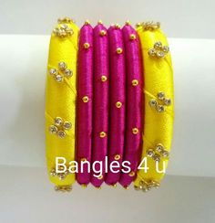 Yellow And Pink Bangles