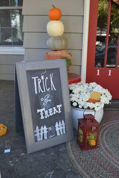 Trick or Treat Halloween Chalkboard Art