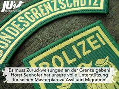 Es muss Zurückweisungen an der Grenze geben! Horst Seehofer hat unsere volle Unterstützung für seinen #Masterplan zu Asyl und Migration!  #Grenzschutz #Asyl #Migration #Deutschland #Seehofer #CSU #people #menschen #heimat #grenze #baum #schutz Masterplan, Social Security, Border Guard, Tree Structure, People, Germany