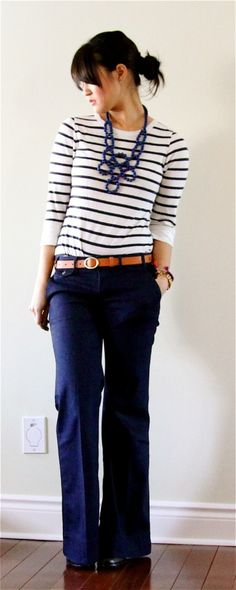 i really want a good pair of navy pants.