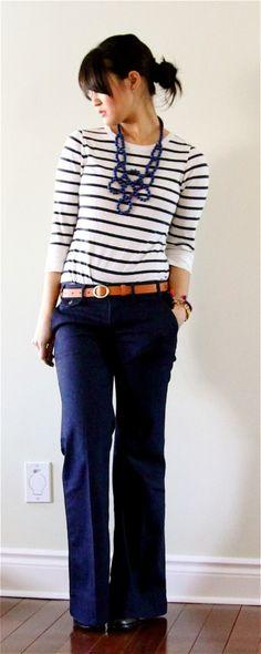 i really want a good pair of navy pants.
