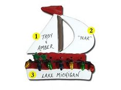 Sailboat Personalized Ornament
