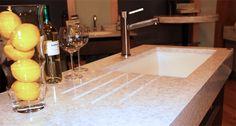 Corian top with built in drain board, undermount sink Corian Top, Draining Board, Undermount Sink, Bath Caddy, Kitchen Ideas, Home Decor, Decoration Home, Room Decor, Home Interior Design