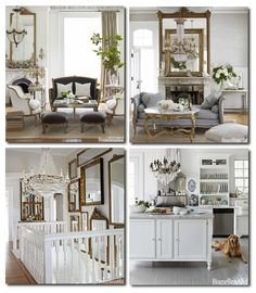 A French parlor's daybed sits in the living room with a gilt table with a white marble top used as a coffee table. Description from thewhitedresser.com. I searched for this on bing.com/images