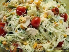 5 Salad Recipes in the Pot to Make and Sell - alimentos saudáveis - Pasta Dinner Recipes, Pasta Salad Recipes, Seafood Recipes, Healthy Low Carb Recipes, Mushroom Recipes, Fabulous Foods, Food Network Recipes, Cooking, Ethnic Recipes