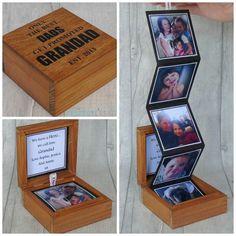 Personalised Wooden Photo Box Keepsake, Birthday Gift, Grandparents Photo Gift, Photo Gift, G. Wooden Photo Box, Photo On Wood, Grandparent Photo, Grandparent Gifts, Diy Cadeau Noel, Diy Birthday, Birthday Gifts For Dad, Girlfriend Birthday, Birthday Quotes