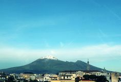 Pompei; Vesuvio innevato