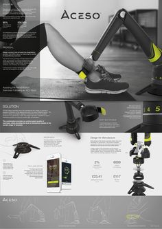 Final Year Product Design Project at Loughborough University - Assisting the Rehabilitation Exercises Following an ACL Injury Design Portfolio Layout, Industrial Design Portfolio, Industrial Design Sketch, Website Design Layout, Layout Design, Design Portfolios, Design Design, Graphic Design, Presentation Board Design
