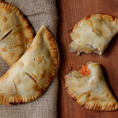 Serve two of these chicken pot pie hand pies per person for dinner or one for lunch.