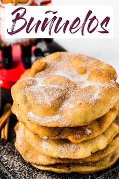 Mexican Bunuelos - Isabel Eats {Easy Mexican Recipes} Often served during the Christmas and New Years holidays, this Mexican Bunuelos recipe makes the perfect fried dough covered in cinnamon sugar! Mexican Pastries, Mexican Sweet Breads, Mexican Bread, Mexican Dishes, Mini Desserts, Enchiladas, Mexican Bunuelos Recipe, Mexican Sopapilla Recipe, Empanadas