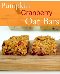 Pumpkin Cranberry Oat Bars from Real Food Real Deals - for LilBoog