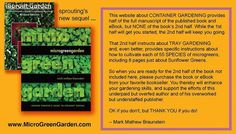 How to grow MICROGREENS at home; book and eBook by Mark Mathew Braunstein, this website's photos and instructions adapted from the book