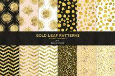Gold Leaf Digital Patterns No. 1